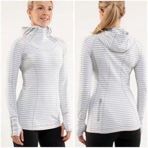 Lululemon Back on track rule gray pullover hoodie